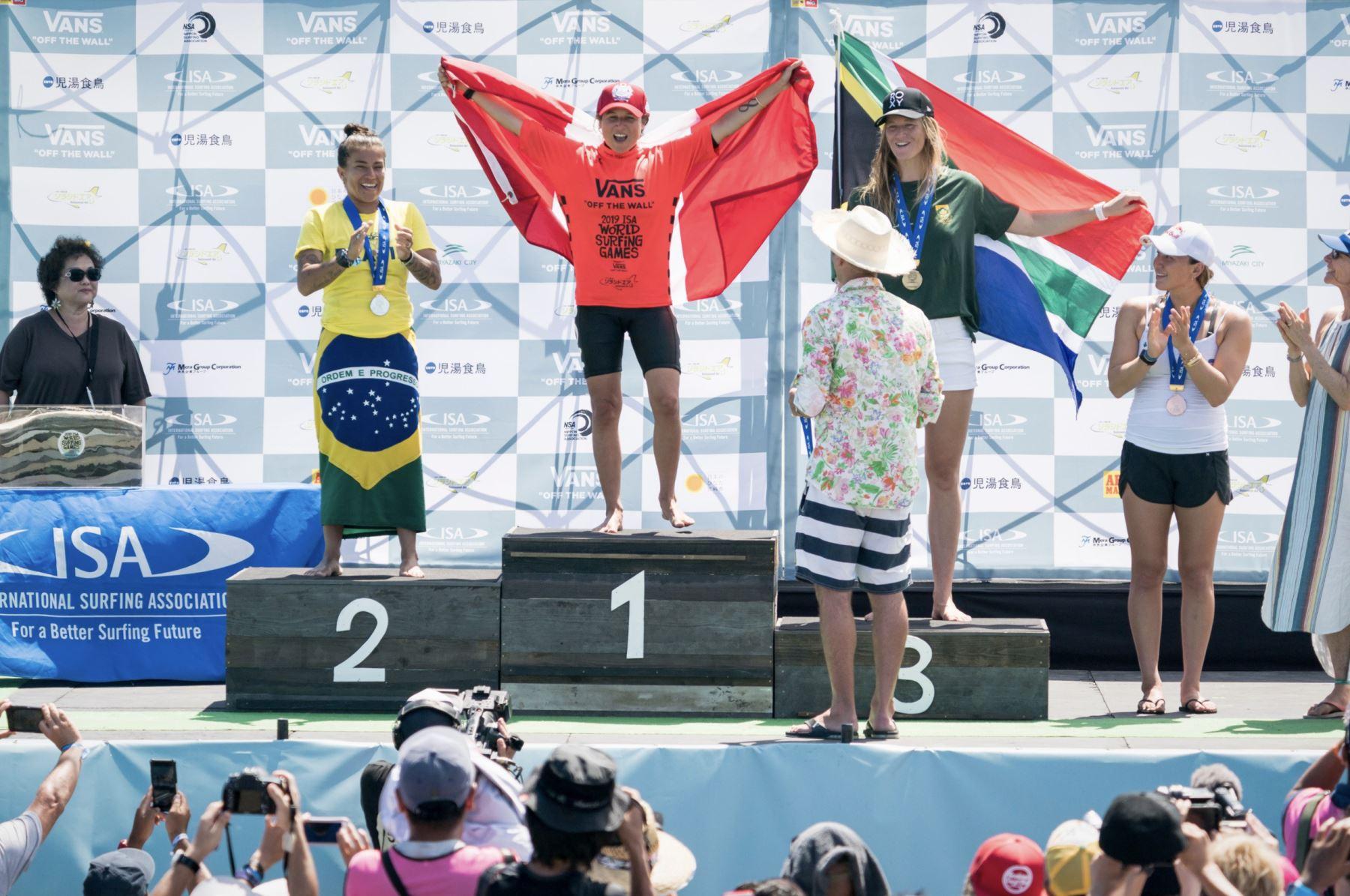Sofía Mulanovich se corona campeona mundial en torneo de surf en Japón. Foto: ISA World Surfing Games 2019