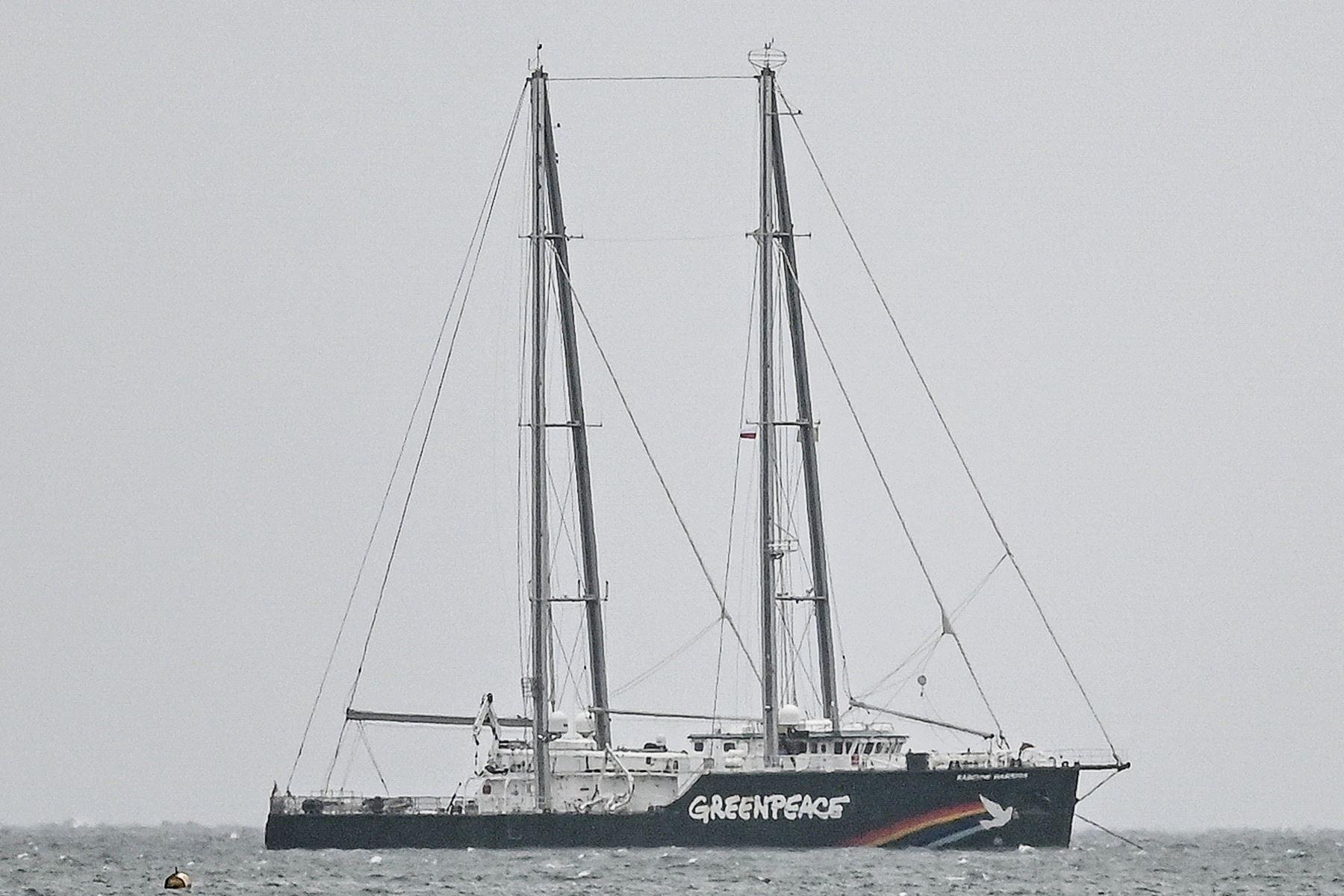 Rainbow Warrior, barco de Greenpeace expulsado de puerto de Polonia. Foto: Twitter
