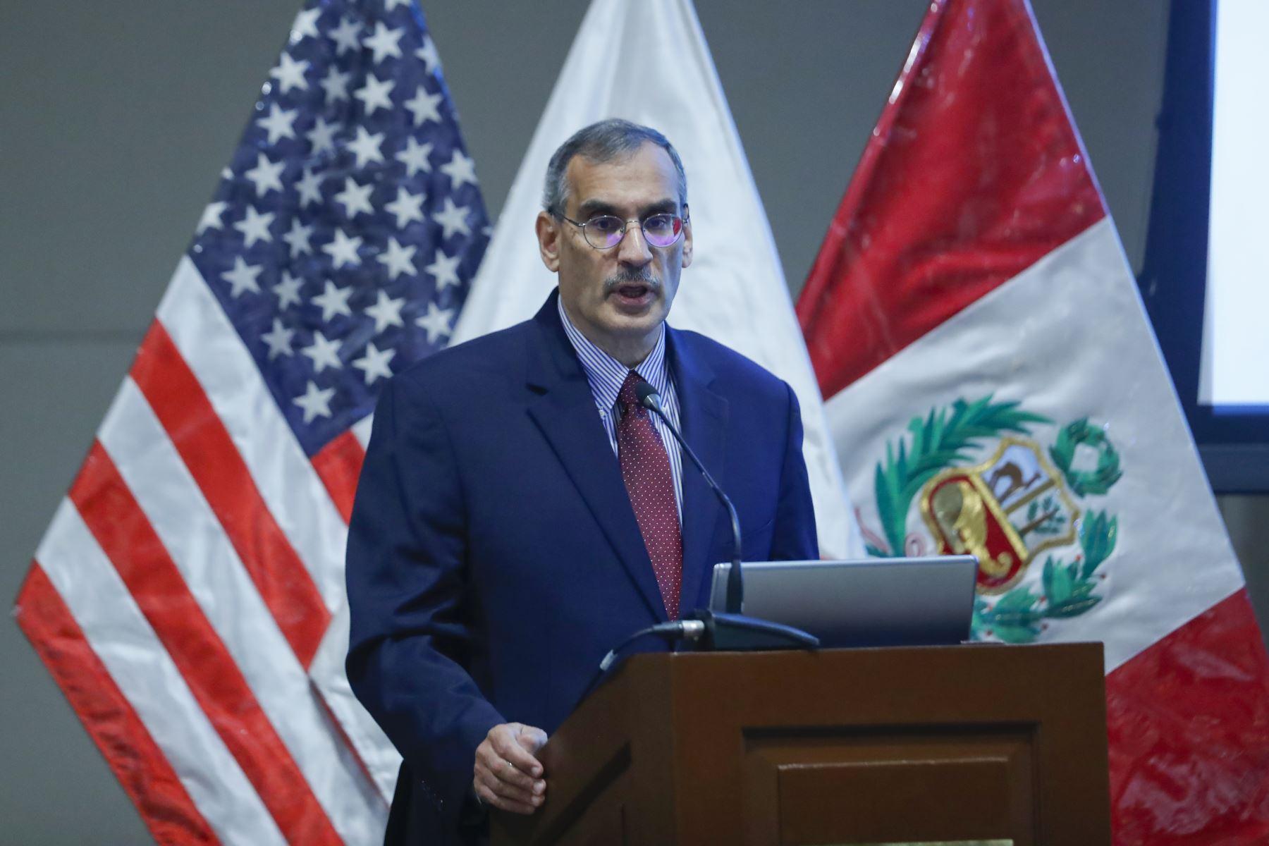 Krishna R. Urs. embajador de Estados Unidos en Perú en Foro Económico 2019:
