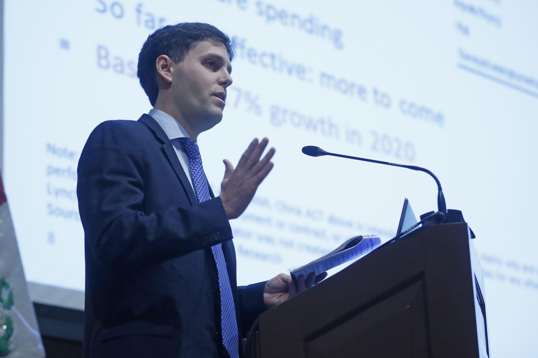 Alexander Muller, jefe para la región Andina Centroamérica y Caribe de Bank of America Merril Lynch en Foro Económico 2019: