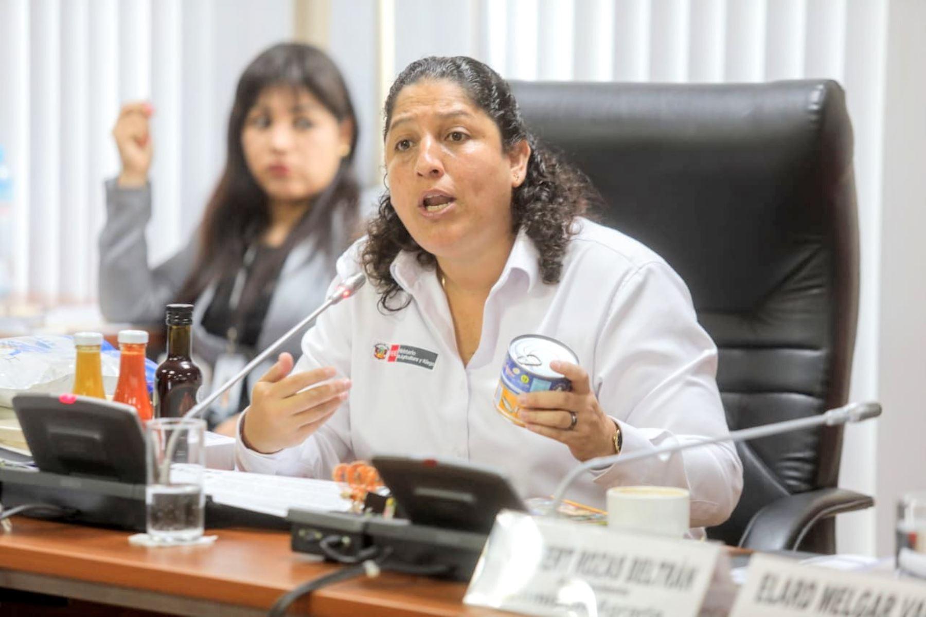 Ministra de Agricultura y Riego, Fabiola Muñoz. Foto: Cortesia.