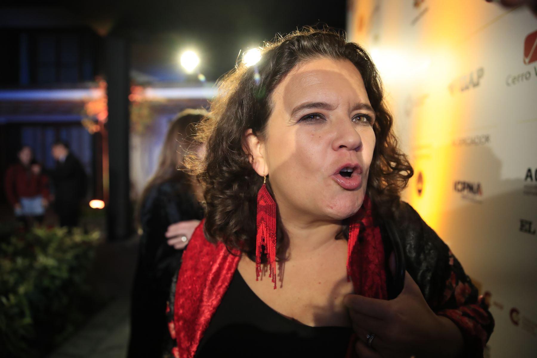 Cristina Fuentes, vocera del Hay Festival ANDINA/Juan Carlos Guzmán