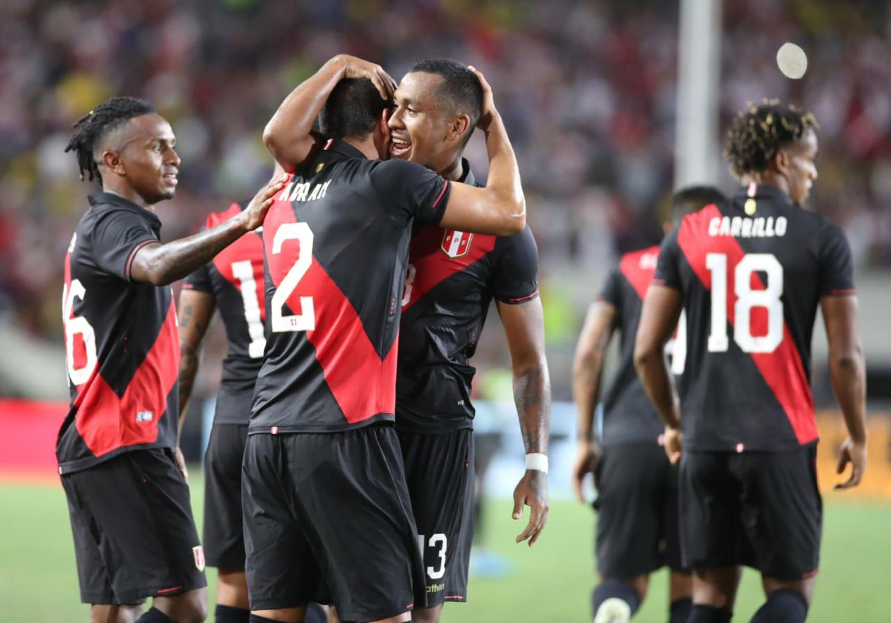 Perú venció sobre el final 1-0 a Brasil en partido amistoso en el estadio Los Ángeles Memorial Sports Arena. Foto: ANDINA/FPF