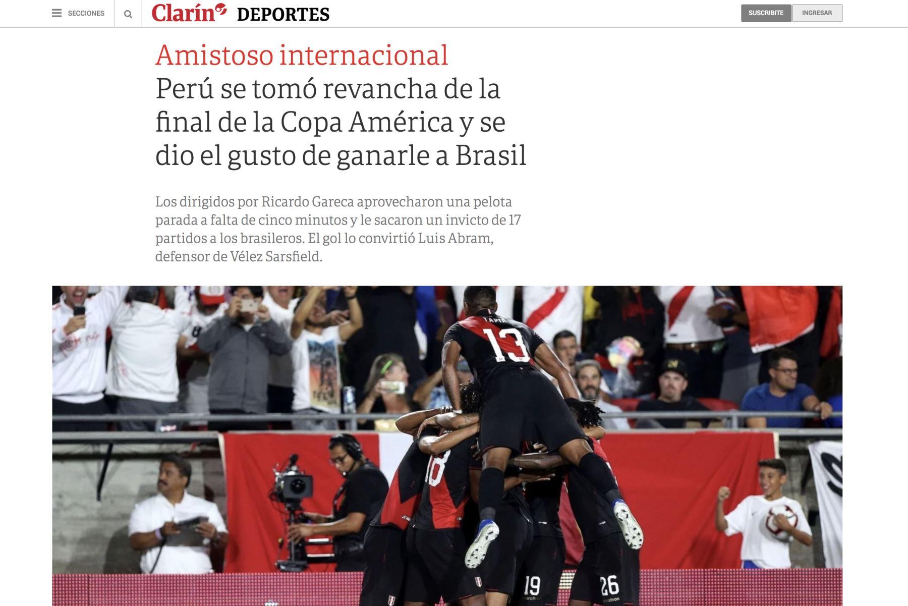 Diario Clarin de Argentina