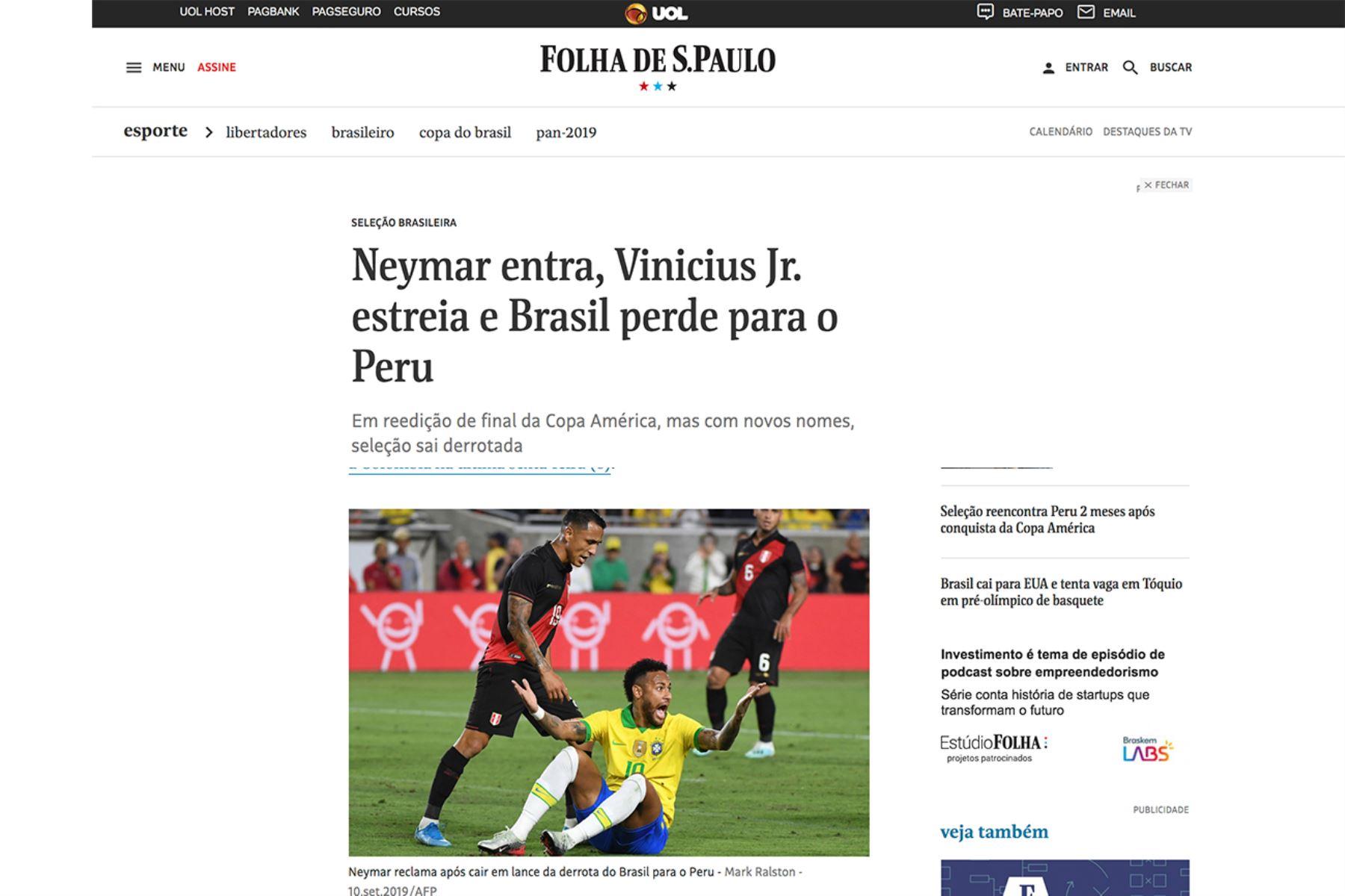 Folha de Sao Paulo, Brasil