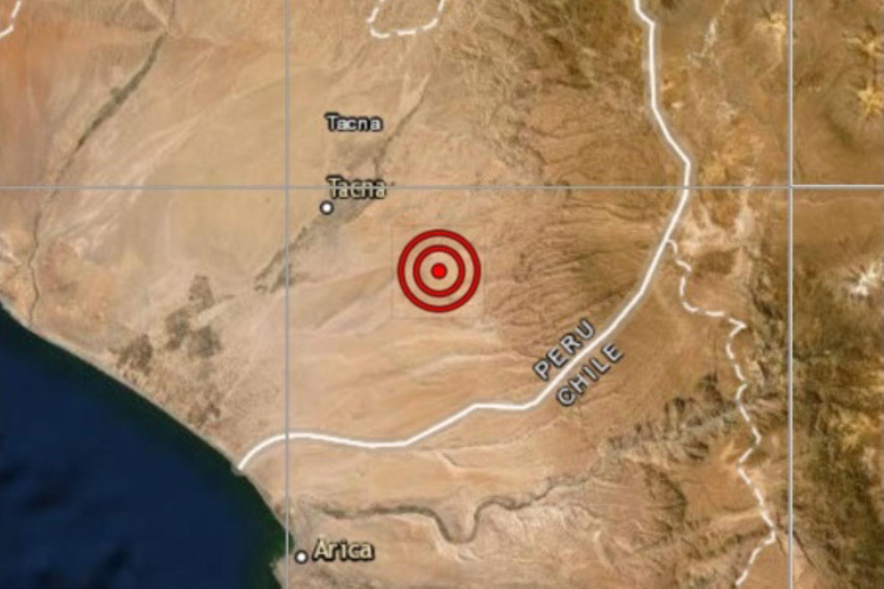Fuerte sismo de magnitud 5.4 remeció Tacna esta mañana.