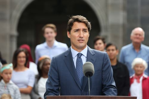 Primer ministro de Canadá, Justin Trudeau (imagen de archivo). Foto: AFP