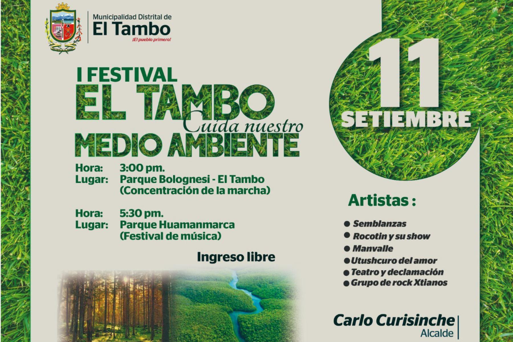 Con festival fomentan cultura de prevención ambiental en distrito de El Tambo, en Huancayo.