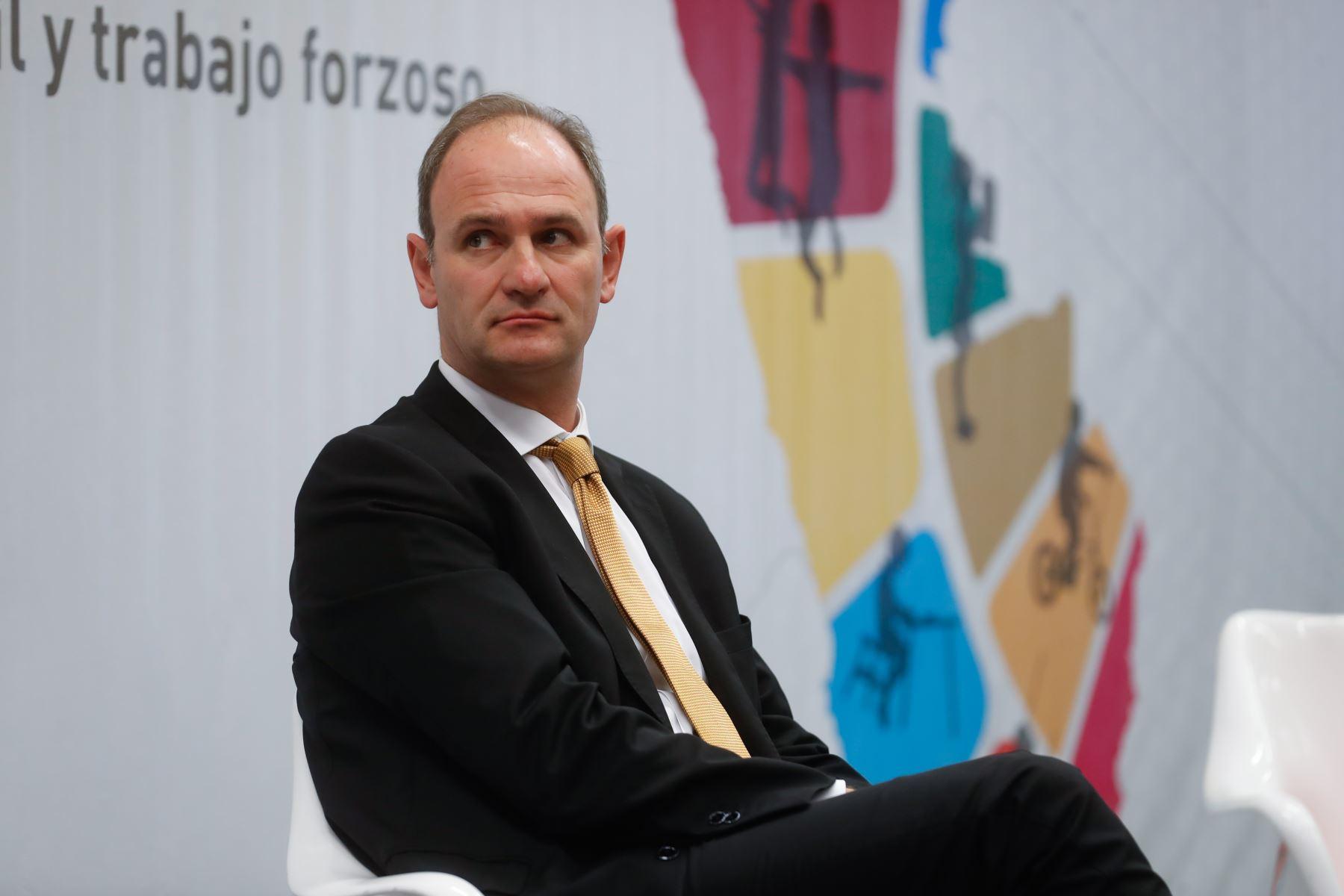 Philippe Vanhuynegem, director de la Oficina de la OIT para los países andinos, destaca compromiso del Perú en prevención y erradicación del trabajo infantil. ANDINA/Renato Pajuelo