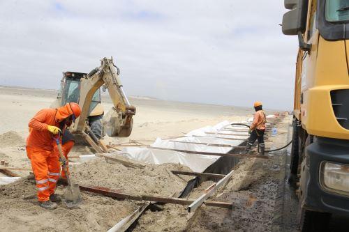 Ministra de Transportes supervisa obras finales en Piura ejecutadas por el equipo especial para la Reconstrucción con Cambios