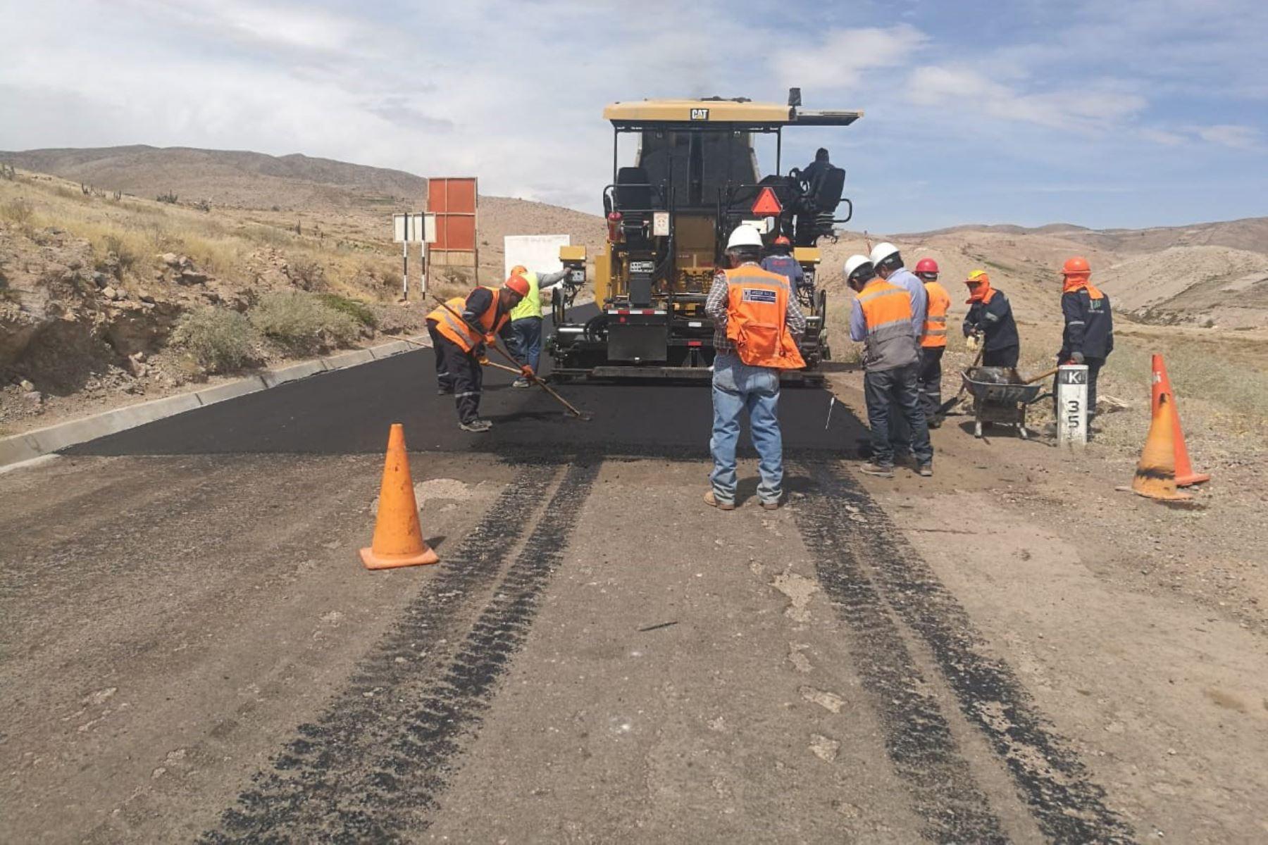 Una de las obras que ejecutará el Gobierno Regional de Áncash será el asfaltado de la carretera a Yungay. ANDINA/Difusión
