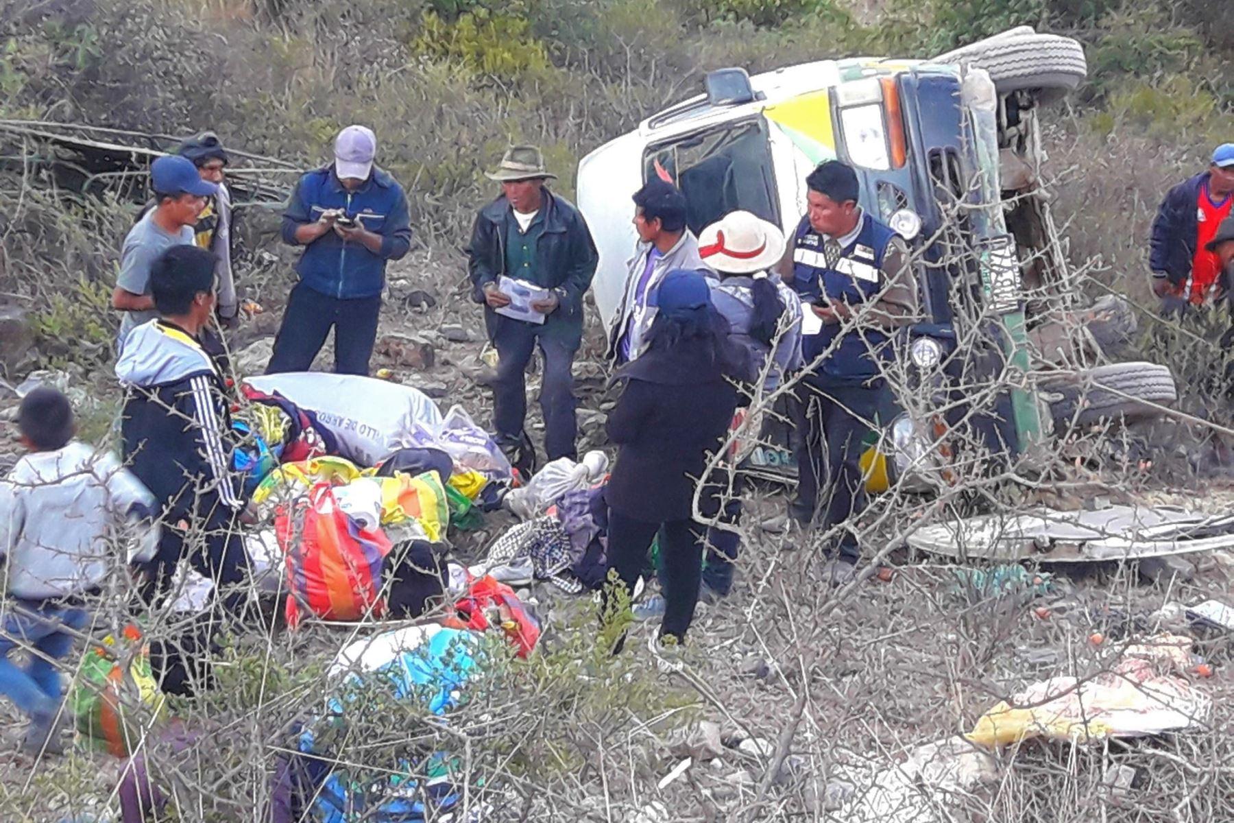 Dos personas mueren en accidente de tránsito en la sierra de Áncash. ANDINA/Difusión