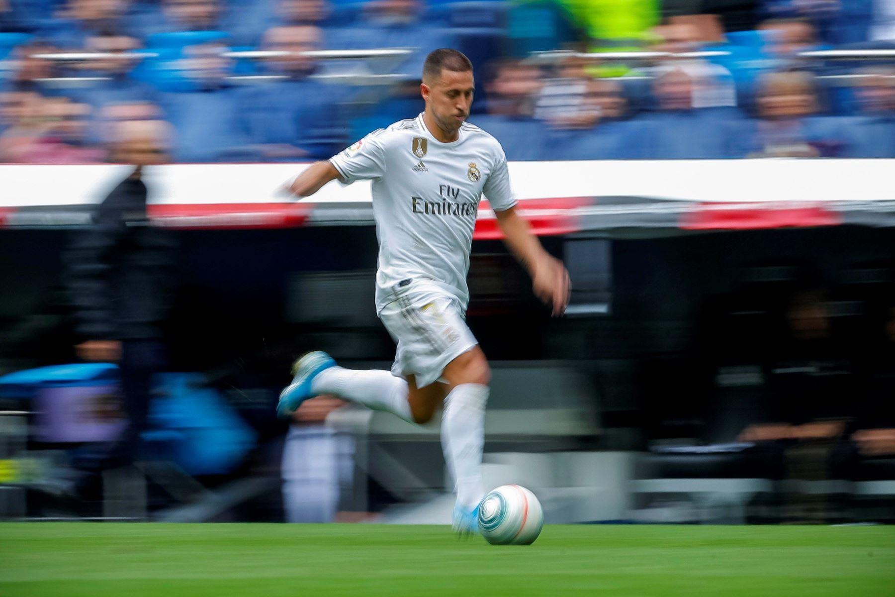 El delantero belga del Real Madrid Eden Hazard durante el partido ante el Levante. Foto: EFE