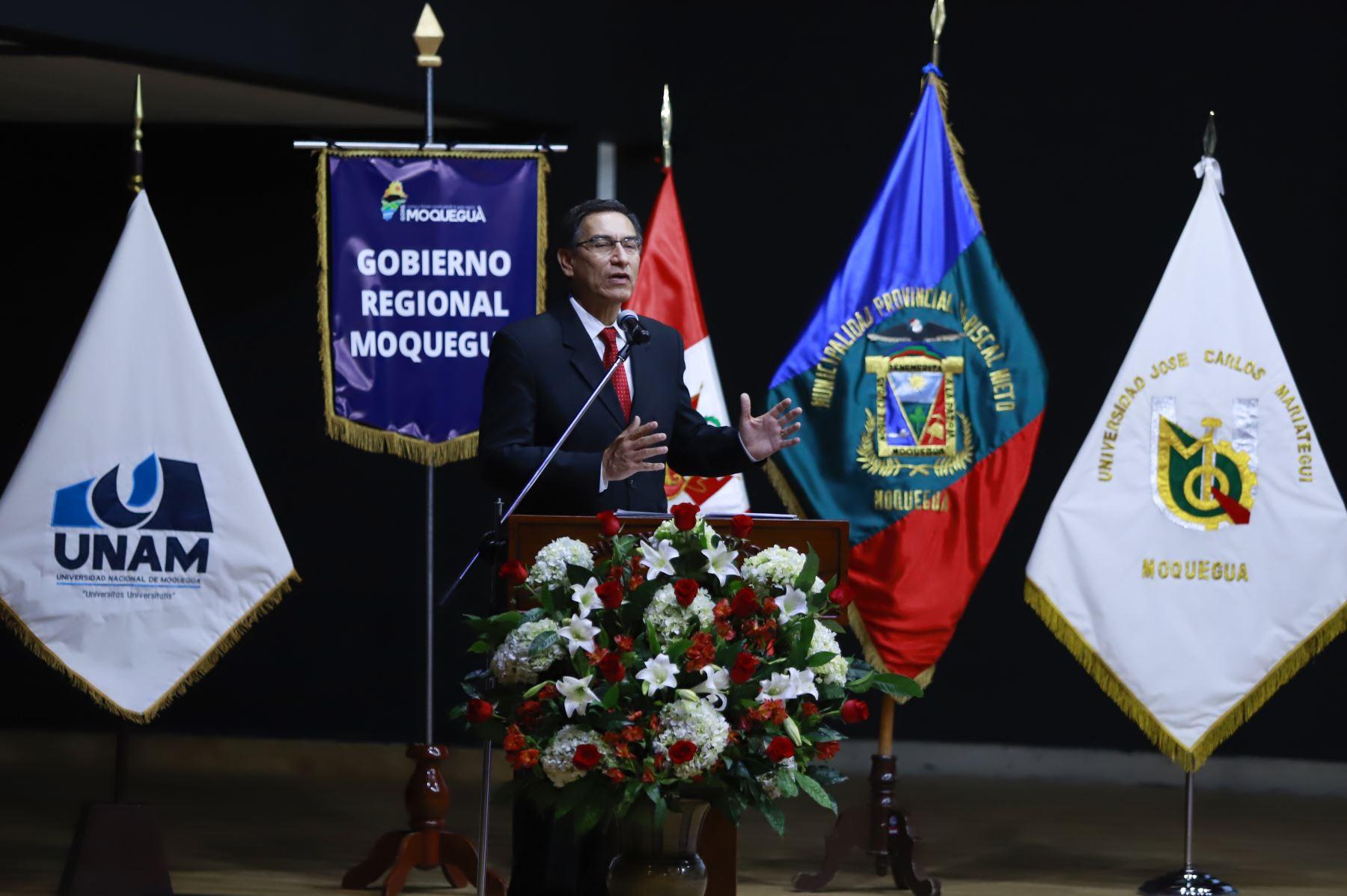 Presidente participa en la segunda Conferencia sobre seguridad, defensa y gestión de riesgo de desastres de la Macro Región Sur, en Moquegua. Foto: ANDINA/Prensa Presidencia