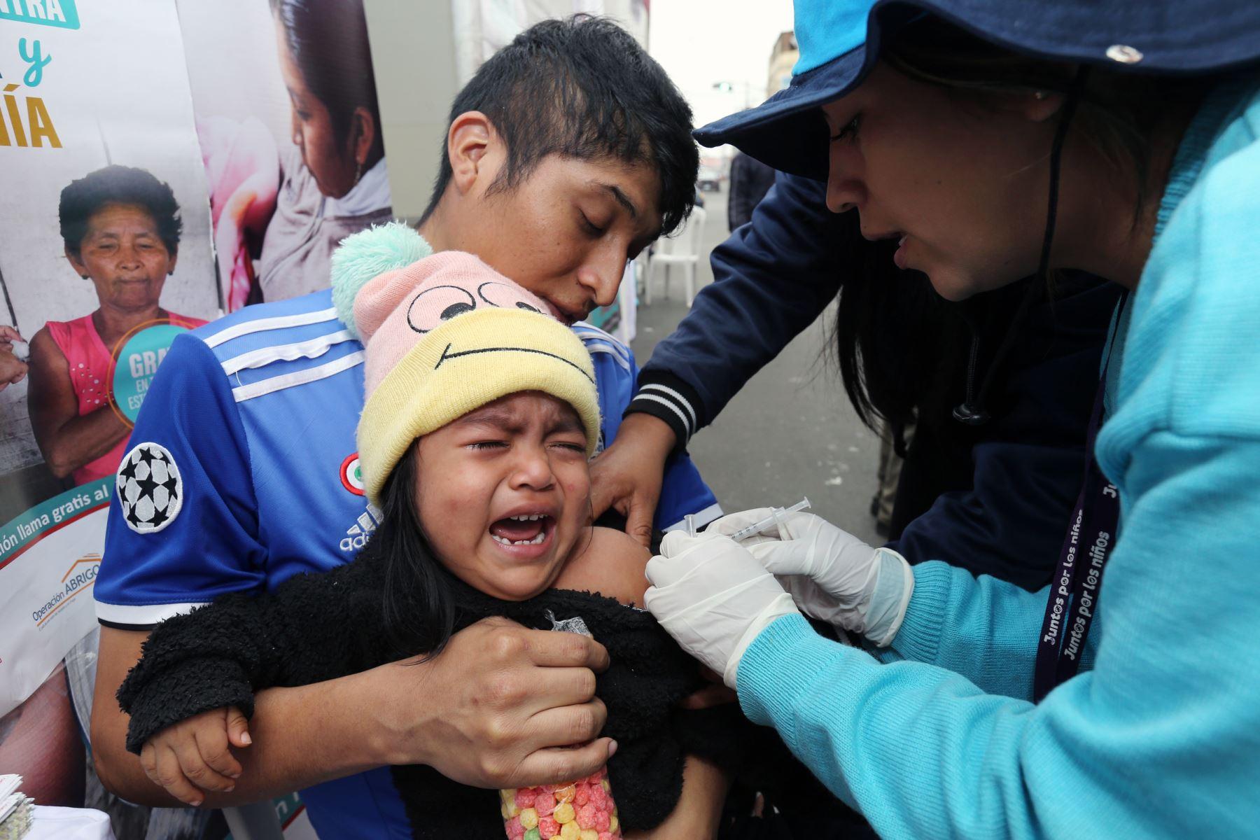 También se realizó consejería en control de crecimiento y desarrollo y vacunación en módulos autorizados. Foto: ANDINA/Norman Córdova