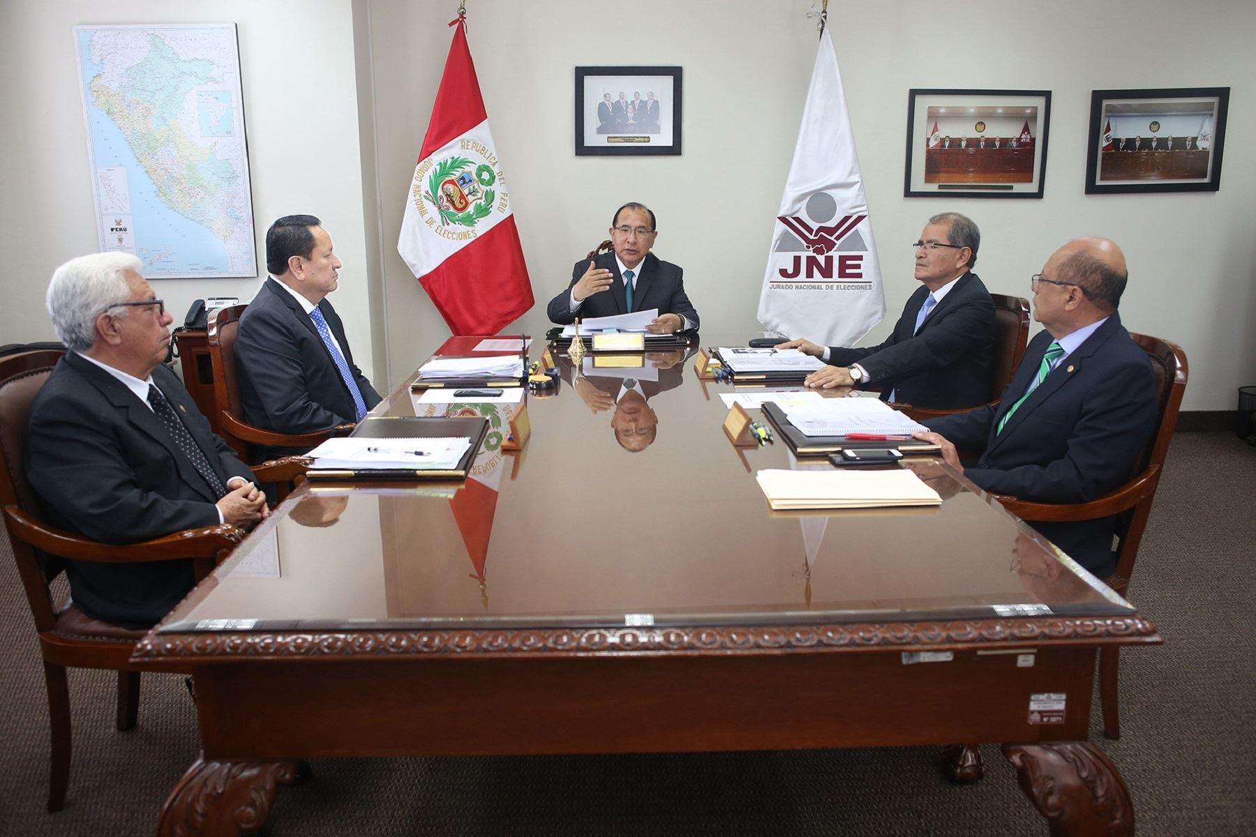 Pleno del Jurado Nacional de Elecciones. Foto: Difiusión.
