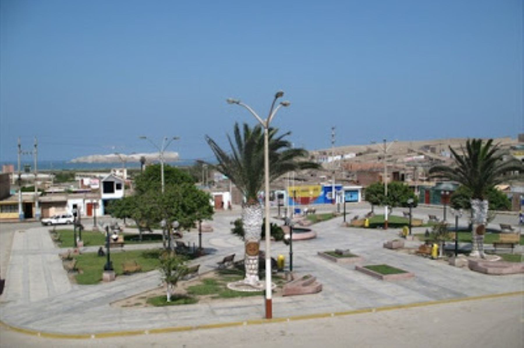 Plaza de Armas de la ciudad de Végueta, en la región Lima.