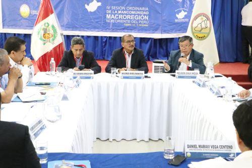Director ejecutivo de la ARCC, Nelson Chui Mejía, participa en la IV Sesión Ordinaria de la Mancomunidad Macrorregional Nor Oriente del Perú