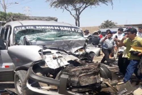 Lambayeque: los 8 heridos de accidente en Olmos ya se encuentran estables