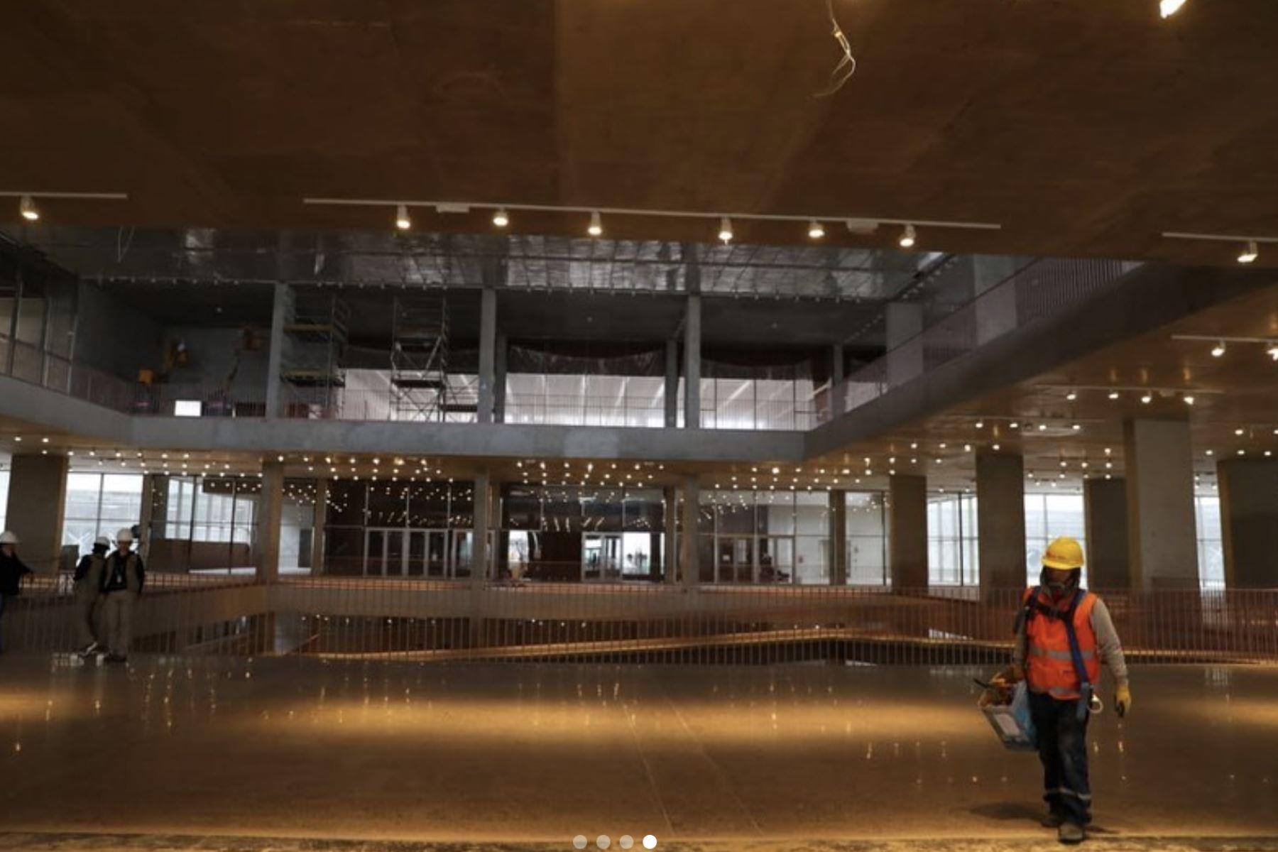 Instalaciones del interior del Museo Nacional del Perú  ( MUNA ), en Pachacamac. Foto: ANDINA/Prensa Presidencia