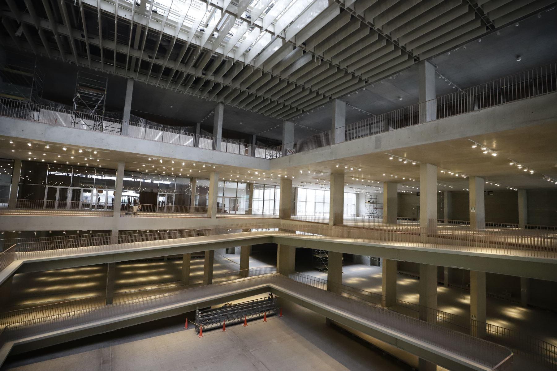 Instalaciones del interior del Museo Nacional del Perú  ( MUNA ), en Pachacamac. Foto: Mincul
