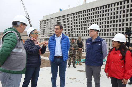 Presidente Vizcarra supervisa  avances en la construcción del Museo Nacional de Arqueología – MUNA