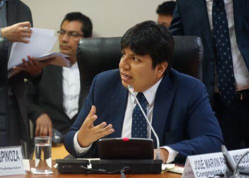 Congresista José Marvin Palma Mendoza.