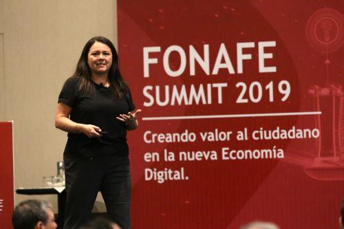 Marushka Chocobar, secretaria de Gobierno Digital de la PCM. ANDINA/Eddy Ramos