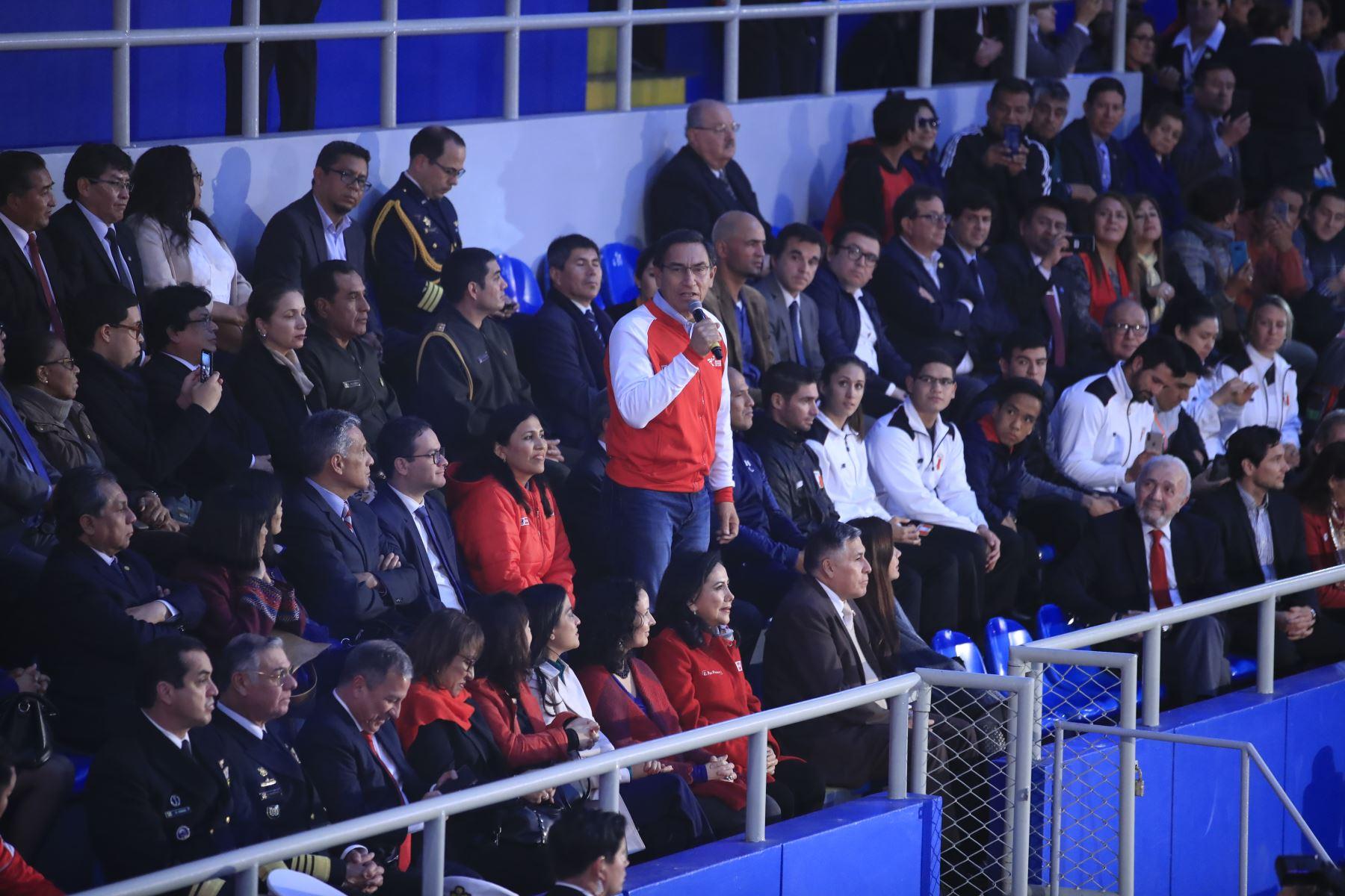 Presidente Vizcarra presentó etapa final de Juegos Deportivos Escolares Nacionales 2019  Foto: ANDINA/Juan Carlos Guzmán Negrini.