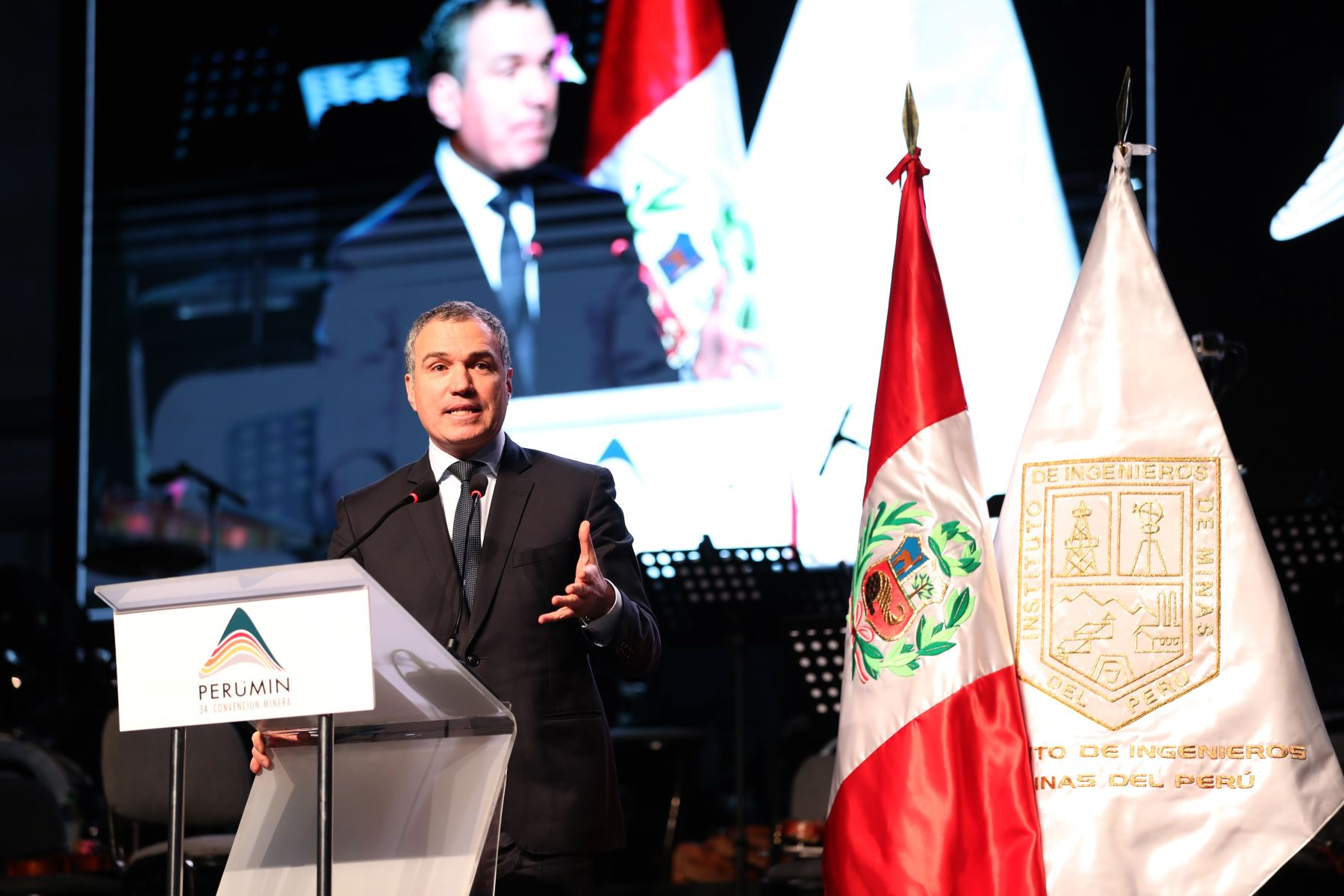 El presidente del Consejo de Ministros, Salvador del Solar inauguro la 34ª Convención Minera Perumin, en la ciudad de Arequipa.Foto:ANDINA/PCM