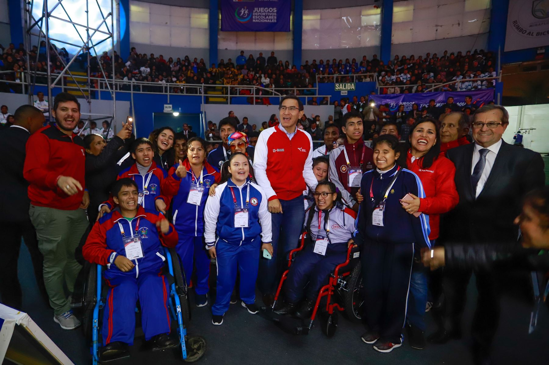 Presidente Martin Vizcarra inauguró los XXVII Juegos Deportivos Escolares Nacionales 2019, en el Coliseo Bonilla de Miraflores.Foto: ANDINA/Prensa Presidencia