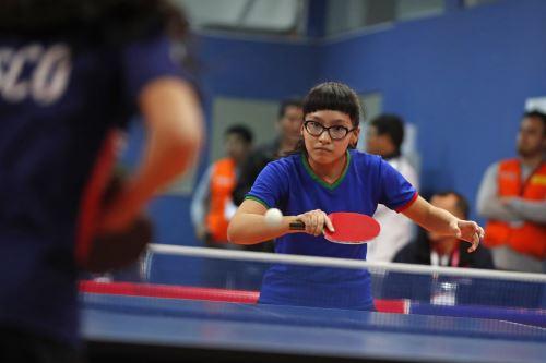 Juegos Escolares 2019: vibrante jornada del tenis de mesa en el Estadio Nacional