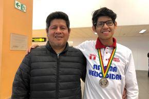 Hijo de taxista gana medallas en olimpiadas internacionales de ciencias. Foto: ANDINA/Difusión.