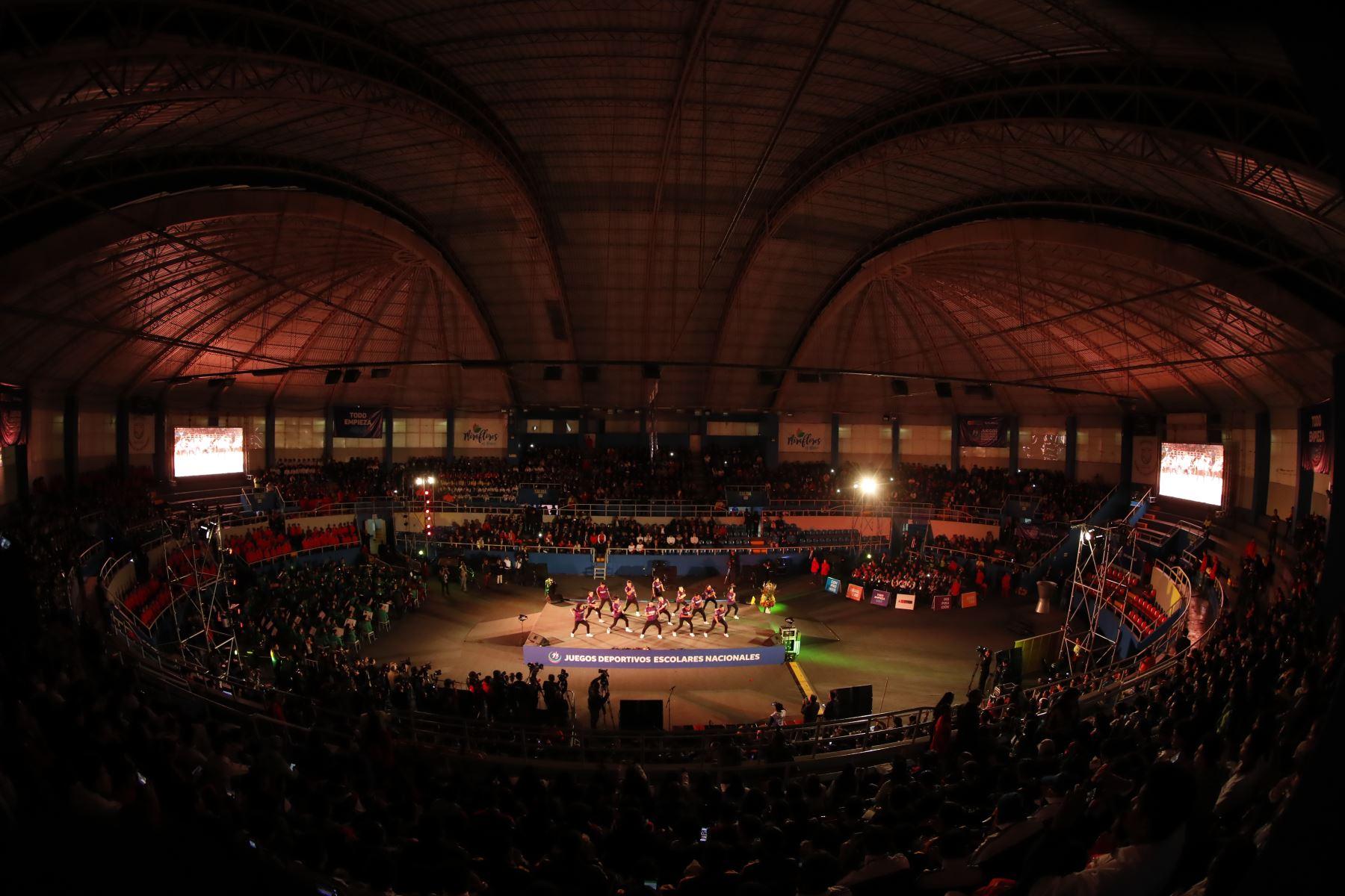 Ceremonia de inauguración de los  XXVII Juegos Deportivos Escolares Nacionales 2019, en el Coliseo Bonilla de Miraflores. Foto:ANDINA/Renato Pajuelo
