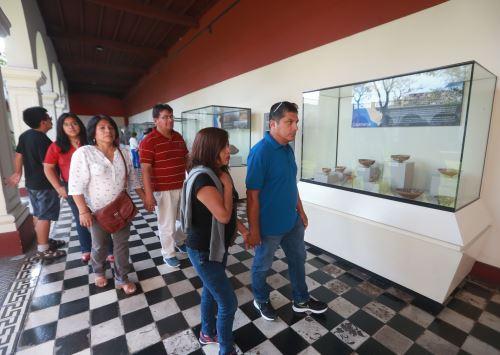 Los museos administrados por el Ministerio de Cultura abren sus puertas al público de manera gratuita el primer domingo de cada mes. ANDINA/Vidal Tarqui