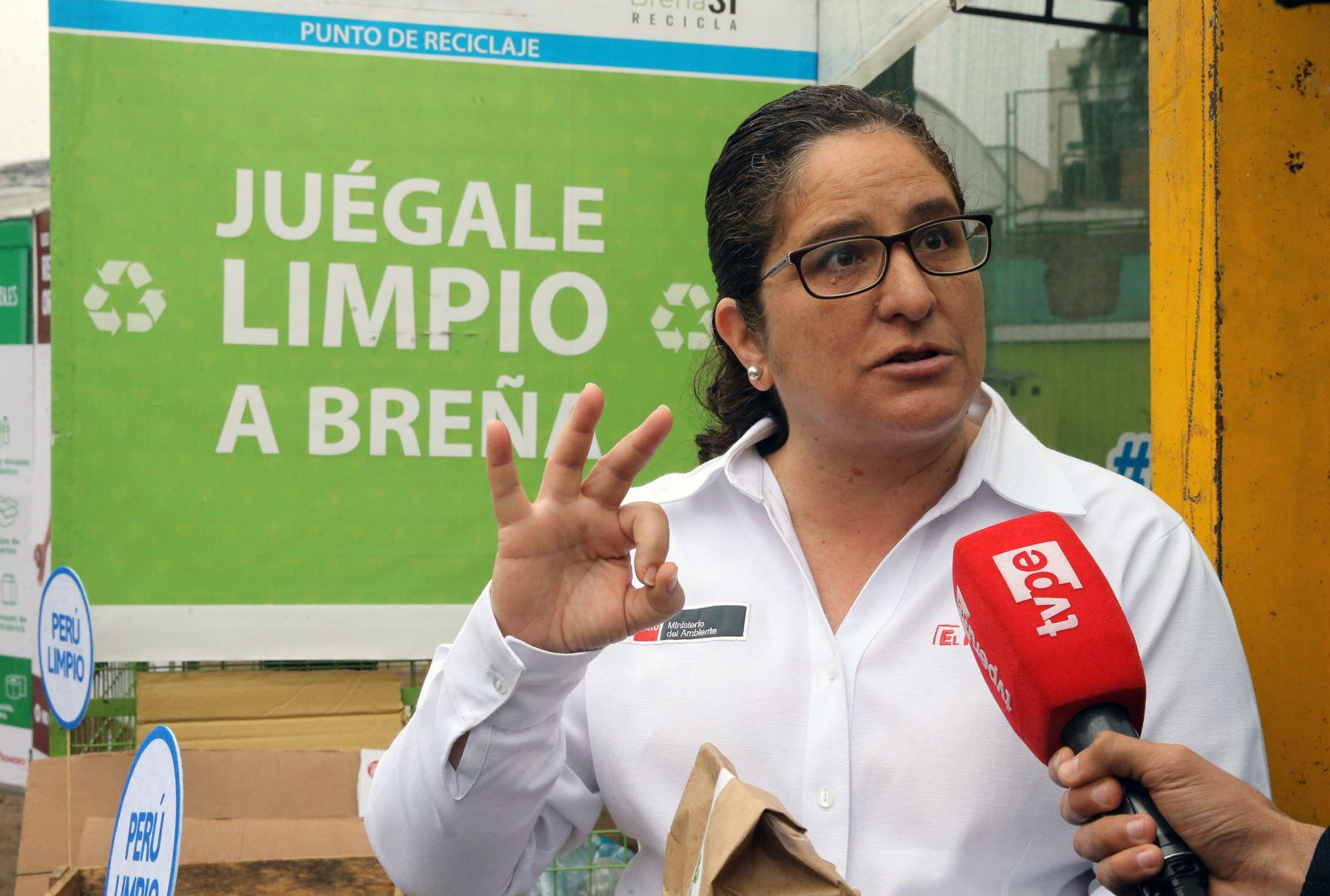 La ministra  del Ambiente , Lucía  Ruíz.Foto: ANDINA/Norman Córdova