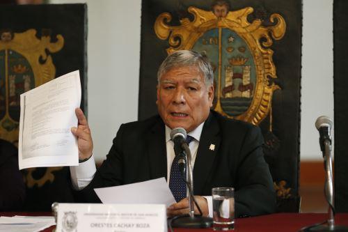 """Rector de la universidad de San Marcos  y autoridades se pronuncian sobre la situación del """"bypass"""""""