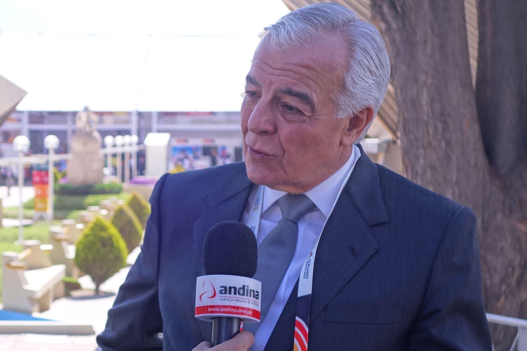 Presidente de Perumin 34, Carlos Gálvez. ANDINA/Difusión