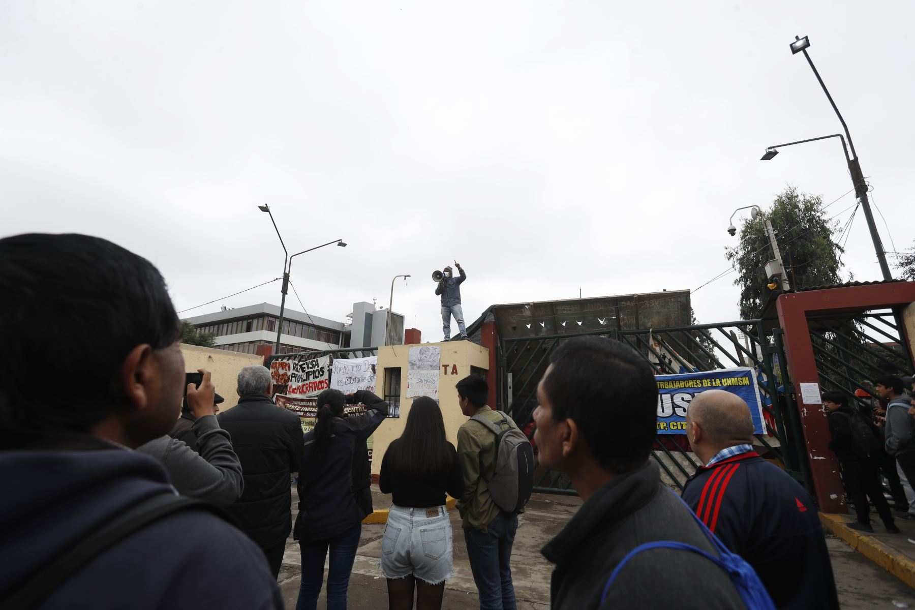 Campus de la Universidad Nacional Mayor de San Marcos (UNMSM) continúa tomado por estudiantes en protesta a la construcción del bypass. Foto: ANDINA/Renato PajueloFoto: ANDINA/ Renato Pajuelo