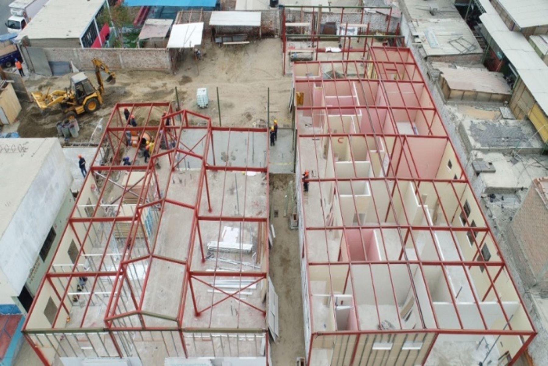 """Avanza construcción del Hospital de Contingencia """"El Progreso"""" en Áncash"""