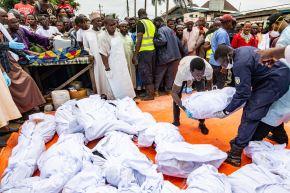 Al menos 26 niños muertos en incendio en escuela de Liberia. Foto: AFP