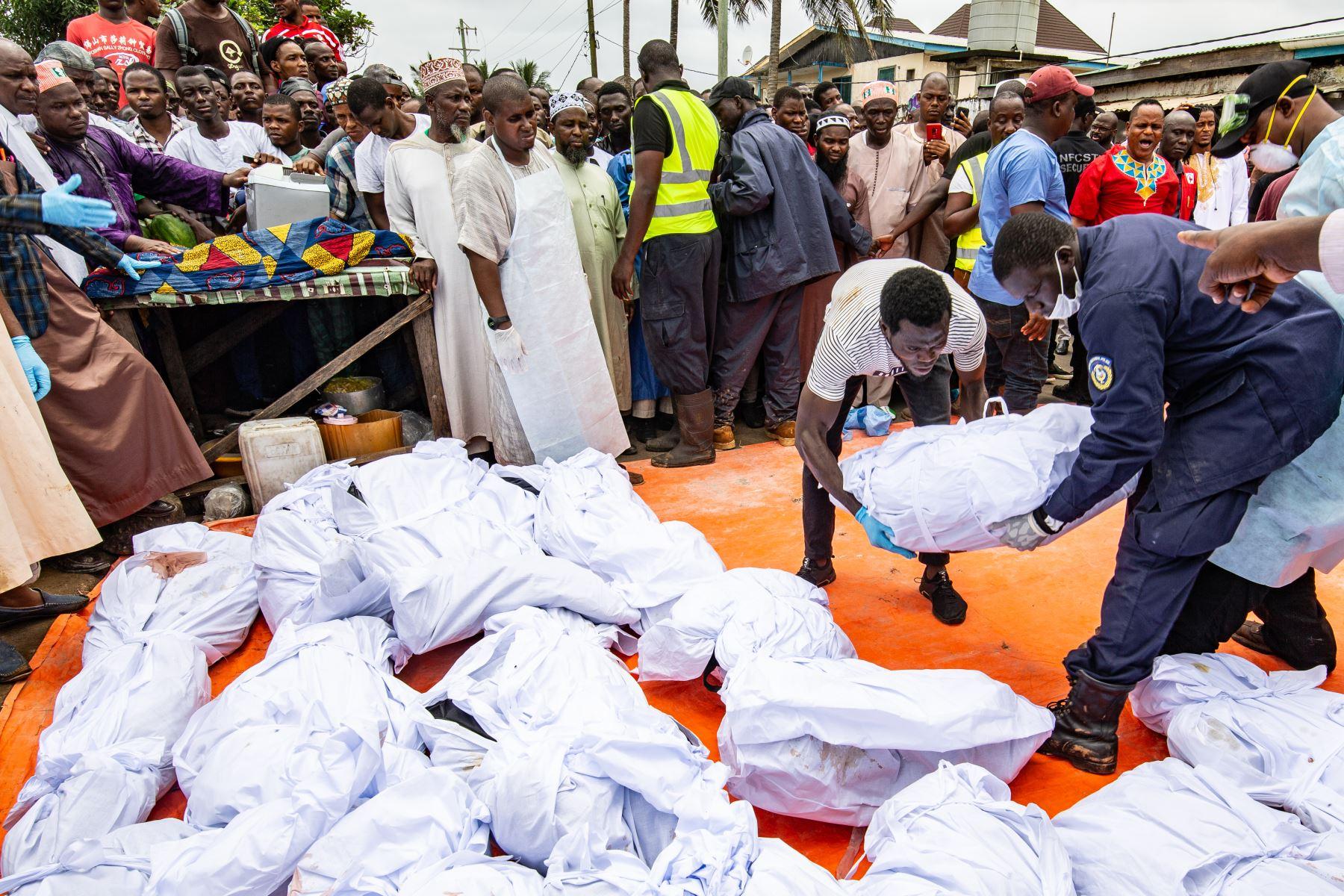 26 niños muertos en incendio en escuela de Liberia. Foto: AFP.