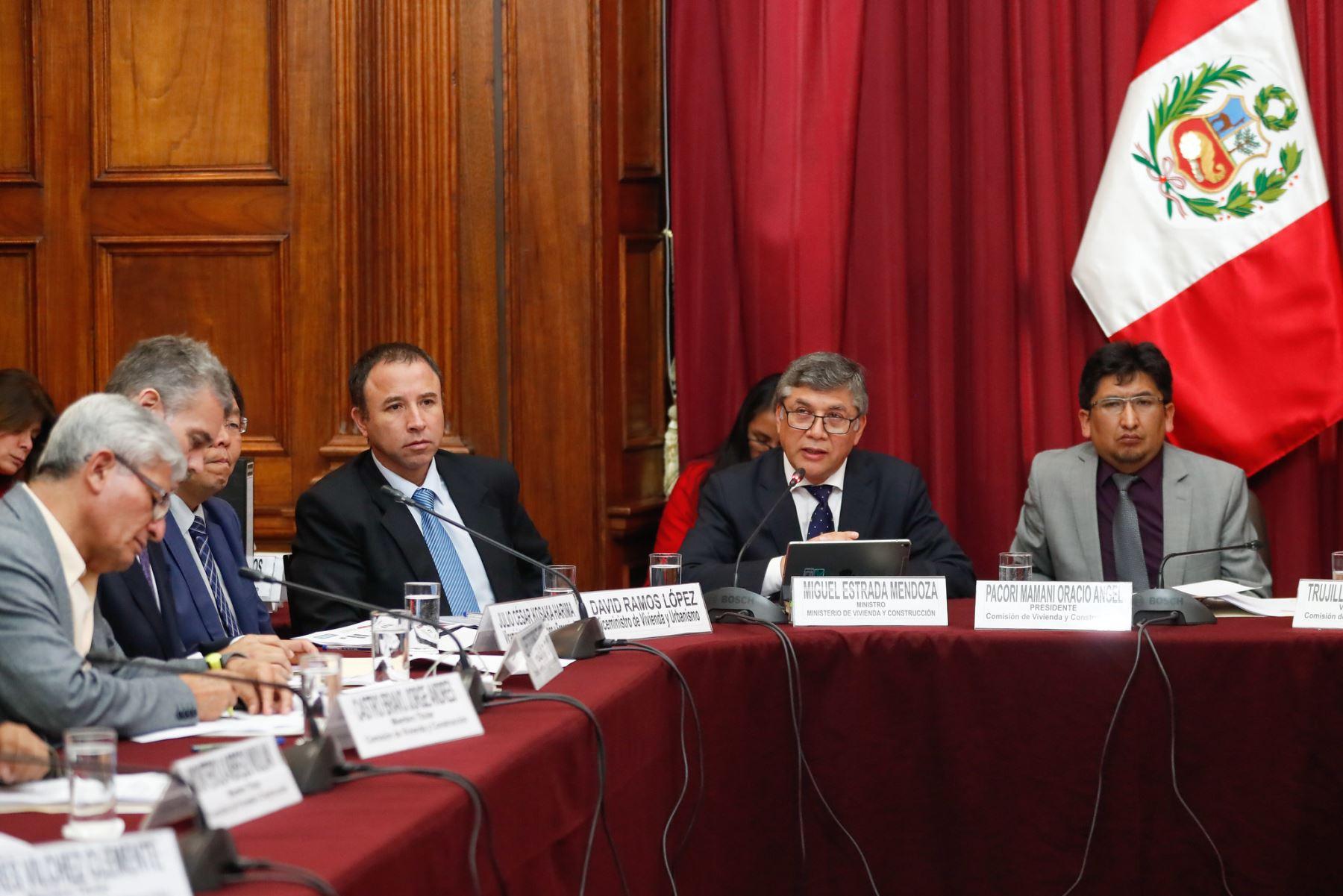 Ministro Miguel Estrada expuso avances de su sector en el Congreso de la República. ANDINA/Difusión