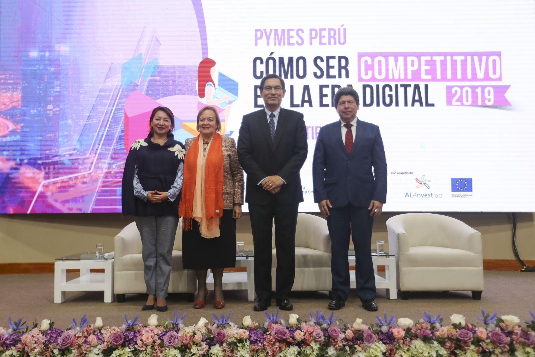 Presidente Vizcarra inaugura la edición XV ExpoPyme, iniciativa que tiene como objetivo contribuir a la capacitación de la micro, pequeña y mediana empresa. Foto: ANDINA/Prensa Presidencia