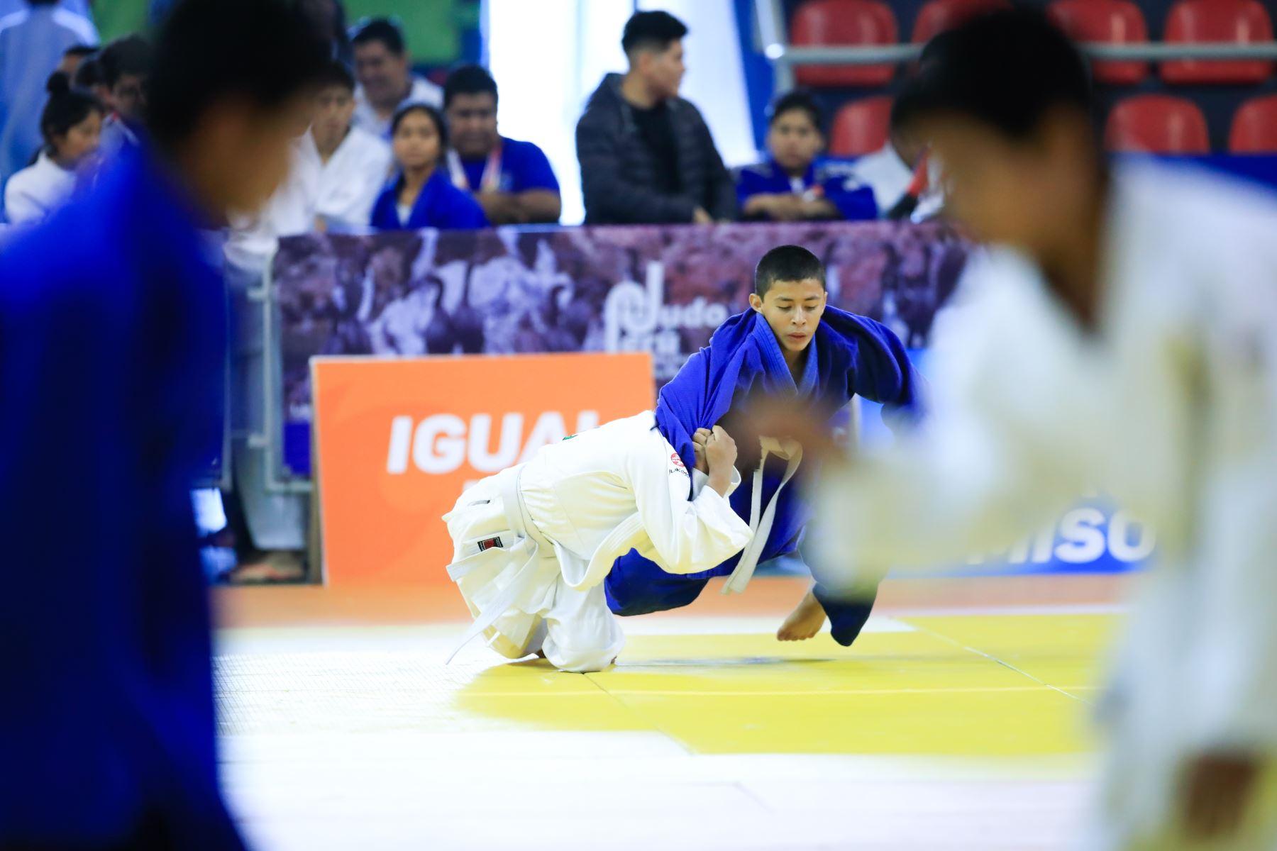Juegos Deportivos Escolares Nacionales, Judo Mixto.   Foto: Andina/Juan Carlos Guzmán Negrini
