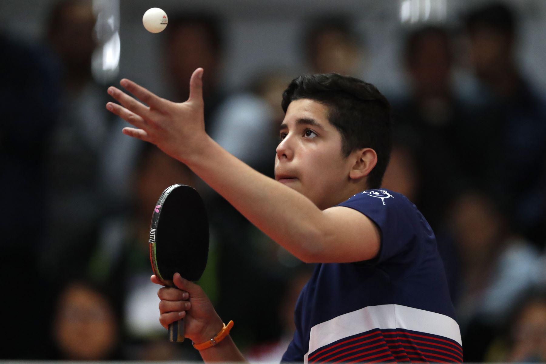 Tenis de Mesa por  los Juegos Deportivos Escolares Nacionales en la Federación Peruana de Tenis de Mesa del Estadio Nacional. Foto: ANDINA/ Carlos Lezama