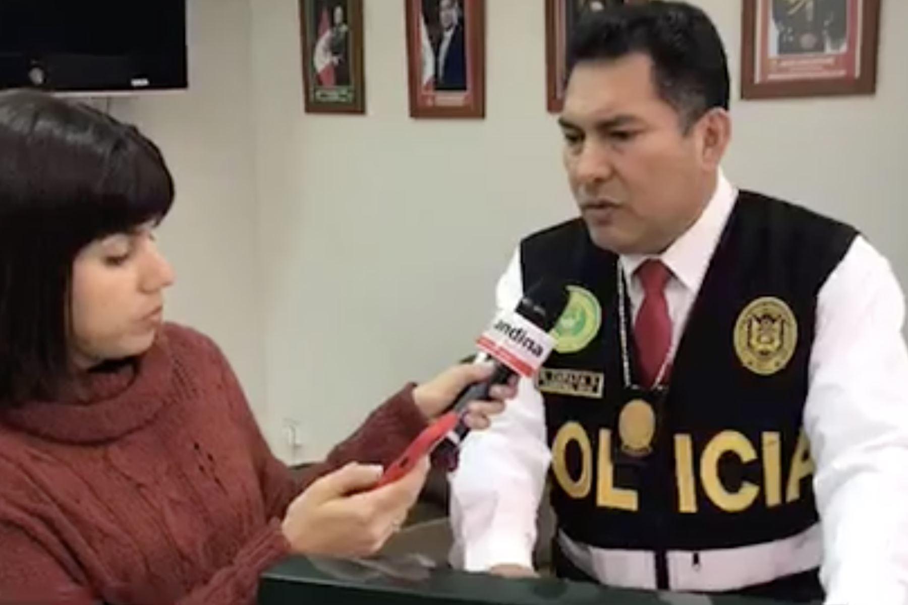 Coronel Nicasio Zapata, jefe de la unidad antisecuestros de la Policía Nacional del Perú.Foto:  ANDINA/Difusión.