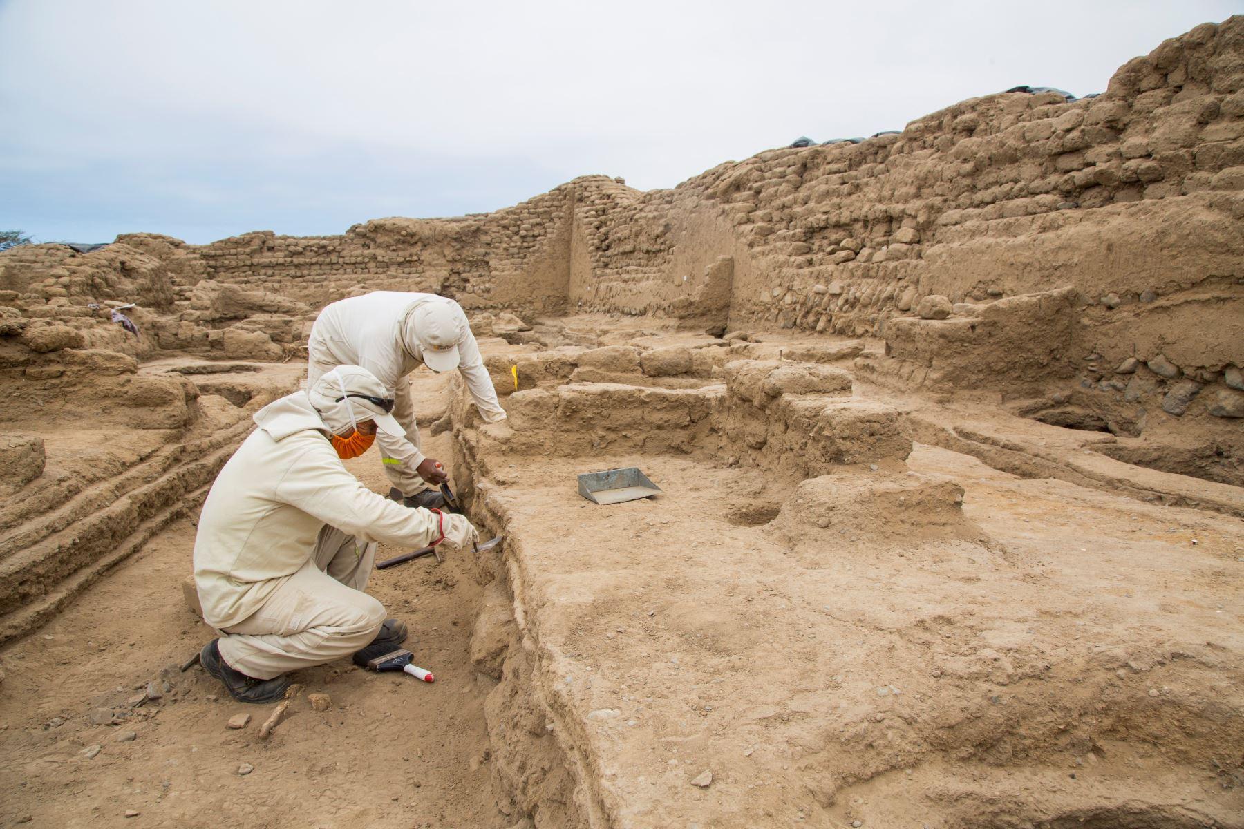 Arqueólogos hallan turbante y 37 contextos funerarios en el conjunto amurallado Chayhuac An, en el complejo arqueológico Chan Chan, en Trujillo.  Foto: Cortesía Pecach