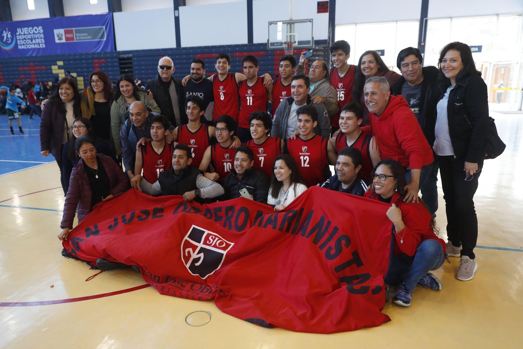 Colegio San José Obrero Maristas de Trujillo obtiene la medalla de oro en los Juegos Deportivos Escolares Nacionales 2019. Foto: ANDINA/Renato Pajuelo