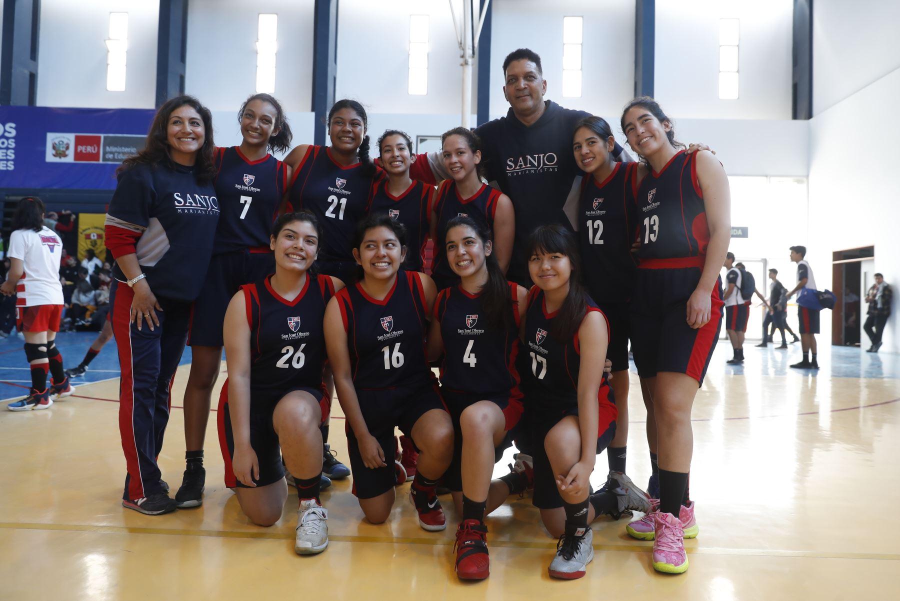 Colegio San José Obrero Maristas de Trujillo disputa final en los Juegos Deportivos Escolares Nacionales 2019. Foto: ANDINA/Renato Pajuelo